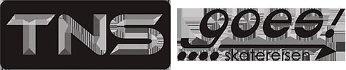 TNS goes! - Skatereisen Logo